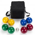 Crown Sporting Goods  Deluxe 4-Player Resin Bocce Ball Set  Carrying Case 90mm