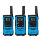 Motorola T100TP Neon Blue Alkaline 3 Pack 16 Mile Range Blue Radios