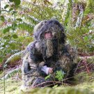 Kids Paintball Sniper 4 Piece Woodland Ghillie Suit Large Non-Allergenic