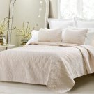 Cherry Hill Collection Oversized 3pc Quilted Coverlet Set Ivory King