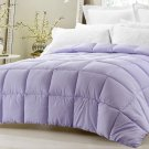 Super Oversized Down Alternative Comforter Pillow Top Light Purple Queen