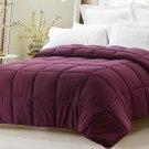 Super Oversized Down Alternative Comforter Pillow Top Beds Dark Maroon King