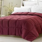 Super Oversized High Quality Down Alternative Comforter Pillow Top Wine Queen