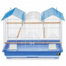 Prevue Hendryx Triple Roof Cockatiel Cage, 26-inch Long Bird Cage Blue & White