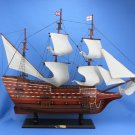 "Wooden Mayflower Tall Model Ship 30"" L x 10"" W x 25"" H 1:31 scale"