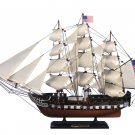 "Wooden USS Constitution Tall Model Ship 24"" Long x 4"" Wide x 17"" High 1:82 Scale"