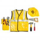 Construction Worker Role Play Set Vest Hat Accessories