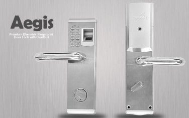 "Biometric Fingerprint Door Lock ""Aegis"" - Deadbolt, Left Handed Installation"