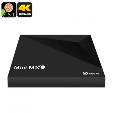Mini MX9 TV Box - 4K, 3D Support, Quad Core Rockchip CPU, Android OS, Wireless