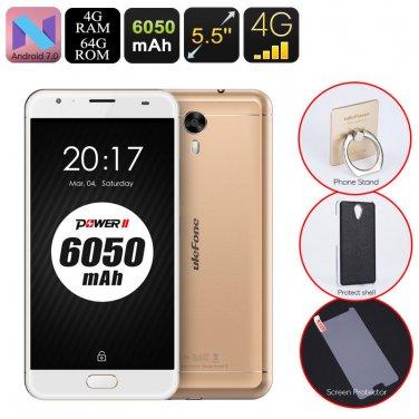 Android Phone Ulefone Power 2 - Octa-Core CPU, 4GB RAM, 6050mAh, 1080p, 2 IMEI
