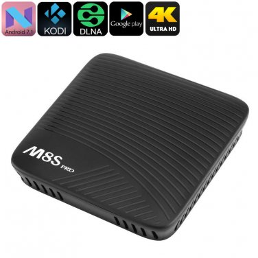 4K TV Box Mecool M8S Pro - Android 7.1, Octa-Core CPU, 2GB DDR4 RAM, Google Play