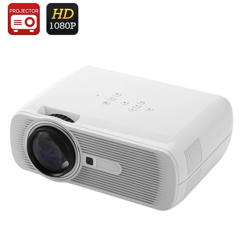 BL-80 Mini LED LCD Projector - 1000 Lumens, 1080P Support,LCD+LED Optical Engine