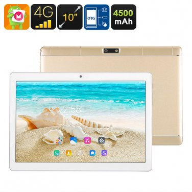10 Inch Tablet PC - 4G, Dual SIM, Android 6.0, Quad Core CPU, 2GB RAM, OTG