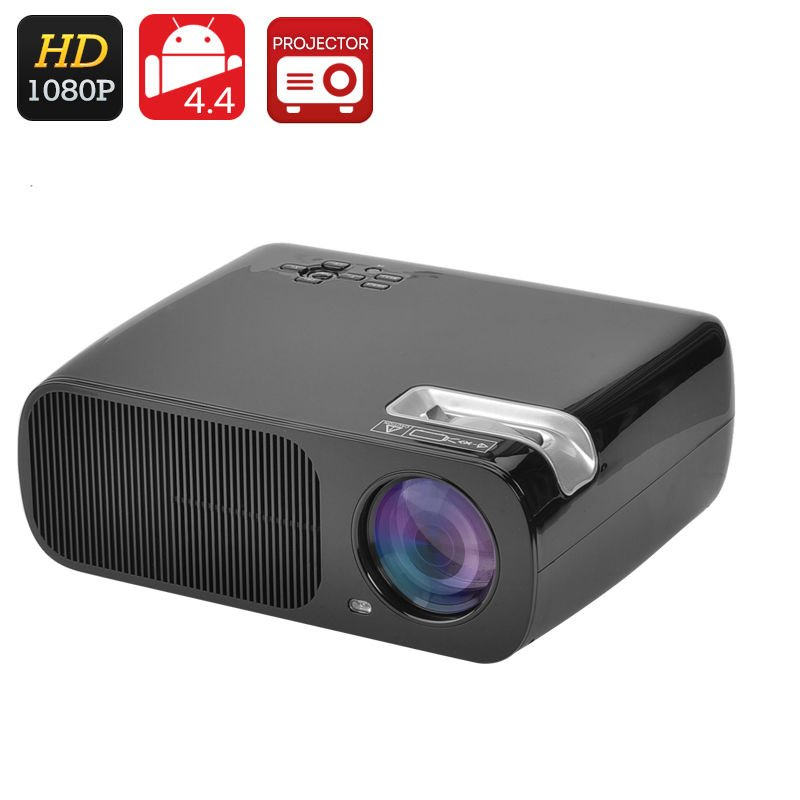 Android 4.4 LCD Projector - 5.0 Inch LCD TFT Panel, Amlogic S805 Quad- Core CPU