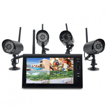 """Wireless Home Security Camera System """"Securial"""" - 4x Indoor Wireless Cameras"""