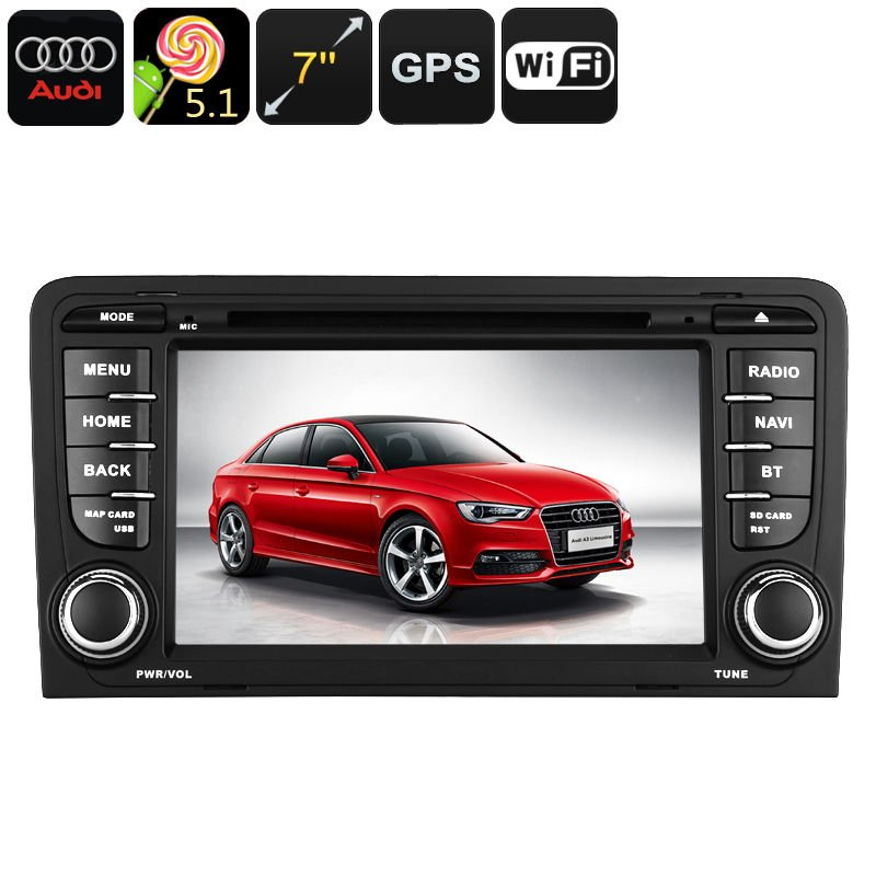 2 din car dvd player for audi a3 android os wifi gps for Mueble 2 din audi a3