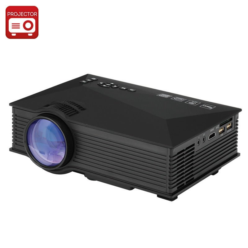 UNIC UC46 Portable Projector - LCD + LED, 800x480, 1200 Lumens, Miracast, DLNA