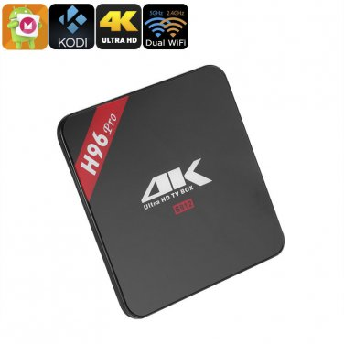 H96 Pro Android TV Box - Amlogic S912 1.5GHz, 2GB RAM, 4K, Android 6.0