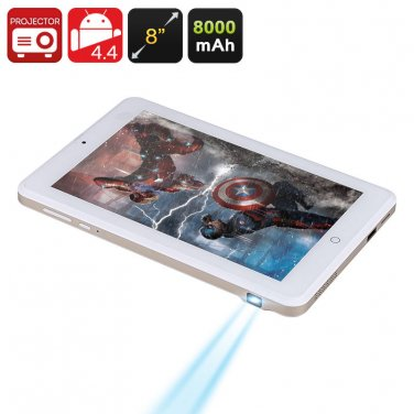 Android Projector Tablet - 8 Inch 1280x800 Screen, RK3188 Quad Core CPU