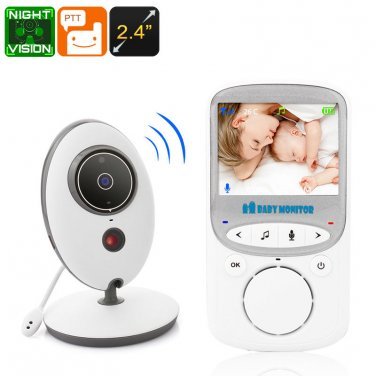 Video Baby Monitor - Two Way Audio, 2.4 Inch Display, Room Temperature Monitor