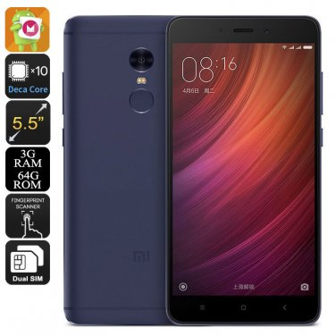 Xiaomi Redmi Note 4 Android Phone - 64GB Memory, Deca Core CPU, 3GB RAM
