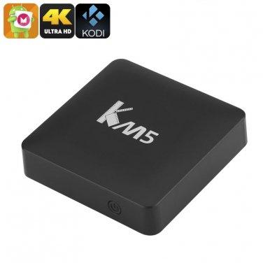 KM5 Android TV Box - Android 6.0, 4Kx2K, Amlogic S905X Quad Core CPU, Kodi 17.0