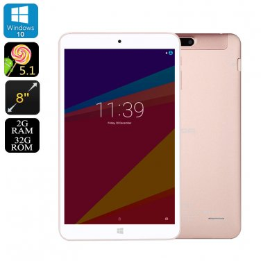 Onda V80 Plus Tablet PC - Windows 10 + Android 5.1 OS, Quad Core CPU, 2GB RAM