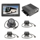 Truck 360 Degree Real-time Monitoring 4 CH SD Real-time SD Mobile DVR, Support SD Card with Monitor