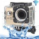 H16 1080P Portable WiFi Waterproof Sport Camera (Gold)