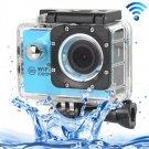 H16 1080P Portable WiFi Waterproof Sport Camera (Blue)