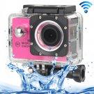 H16 1080P Portable WiFi Waterproof Sport Camera (Magenta)