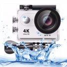 H9 4K Ultra HD1080P 12MP 2 inch LCD Screen WiFi Sports Camera (White)