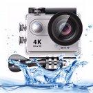 H9 4K Ultra HD1080P 12MP 2 inch LCD Screen WiFi Sports Camera (Silver)