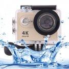 H9 4K Ultra HD1080P 12MP 2 inch LCD Screen WiFi Sports Camera (Gold)
