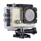 Q3H 2.0 inch Screen WiFi Sport Action Camera Camcorder with Waterproof Housing Case (Gold)