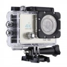 Q3H 2.0 inch Screen WiFi Sport Action Camera Camcorder with Waterproof Housing Case (Beige)