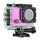 Q3H 2.0 inch Screen WiFi Sport Action Camera Camcorder with Waterproof Housing Case (Rose Red)