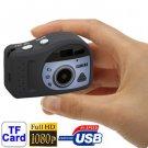 T7000 1080P Mini Digital Camera / Mini DV , 3.0 Mega Pixels Support TF Card (Black)
