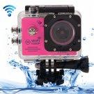 SJ7000 Full HD 1080P 2.0 inch LCD Screen Novatek 96655 WiFi Sports Camcorder Camera (Magenta)