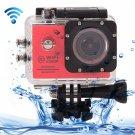 SJ7000 Full HD 1080P 2.0 inch LCD Screen Novatek 96655 WiFi Sports Camcorder Camera (Red)