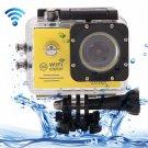 SJ7000 Full HD 1080P 2.0 inch LCD Screen Novatek 96655 WiFi Sports Camcorder Camera (Yellow)