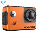 SOOCOO S100 2.0 inch Screen 4K 170 Degrees Wide Angle WiFi Sport Action Camera Camcorder (Orange)