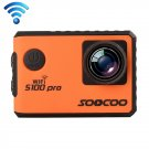 SOOCOO S100 Pro 4K WiFi Action Camera with Waterproof Housing Case (Orange)