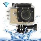 SJCAM SJ5000 Novatek Full HD 1080P 2.0 inch LCD Screen WiFi Sports Camcorder Camera (Gold)