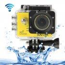 SJCAM SJ5000 Novatek Full HD 1080P 2.0 inch LCD Screen WiFi Sports Camcorder Camera (Yellow)
