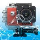 SJCAM SJ5000X WiFi Ultra HD 2K 2.0 inch LCD Sports Camcorder with Waterproof Case (Red)