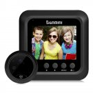 Danmini W5 2.4 inch Screen 2.0MP Security Camera No Disturb Peephole Viewer Doorbell (Black)