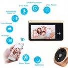 4.3 Inch Monitor Wifi Smart Peephole Video Doorbell HD 720P Camera Night Vision PIR Motion Detection