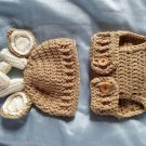 Oh Deer! Diaper cover and Hat