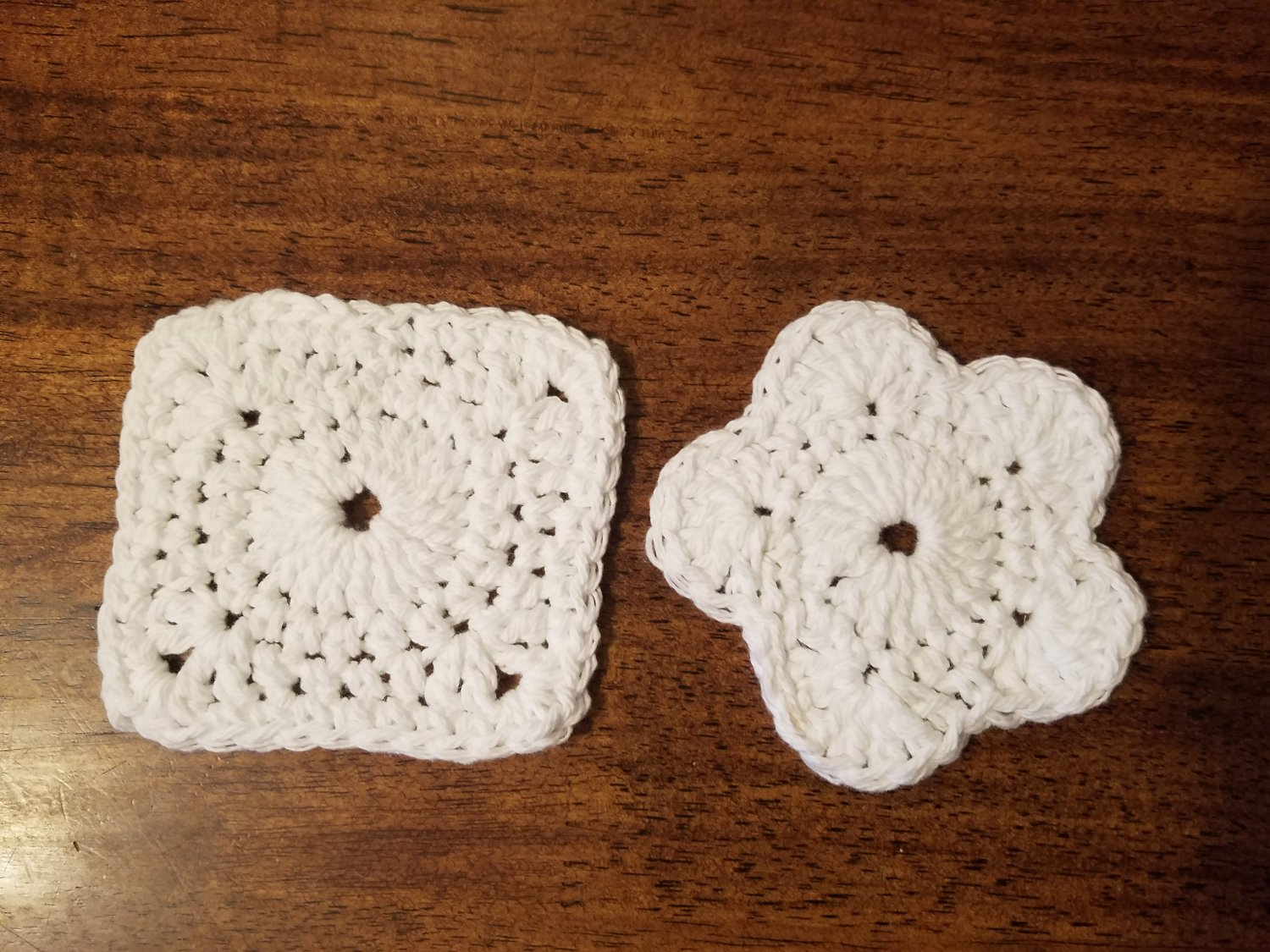 Cotton Face Scrubby Flower and Square Set - On Hand